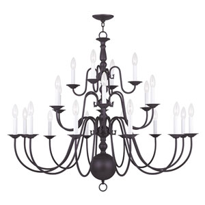 Williamsburgh Bronze 22 Light Chandelier
