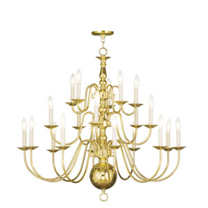 Williamsburgh Polished Brass Twenty-Light Chandelier