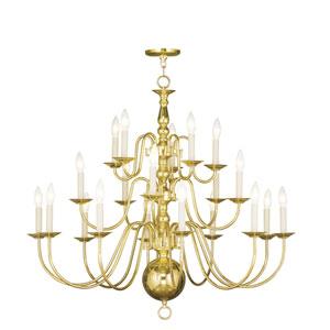 Williamsburgh Polished Brass Twenty-Light Chandelier