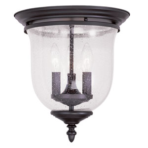 Legacy Bronze Three-Light Ceiling Mount