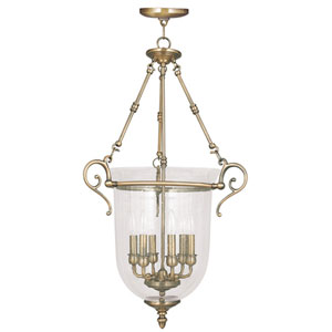 Legacy Antique Brass Six Light Chain Hung Pendant