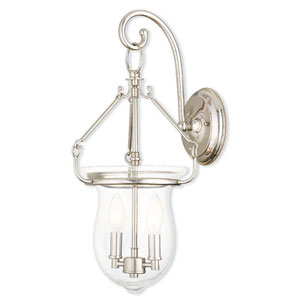 Canterbury Polished Nickel 10-Inch Two-Light Bath Sconce