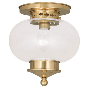 Harbor Polished Brass One Light Ceiling Mount