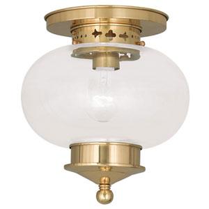 Harbor Polished Brass One Light Ceiling Mount