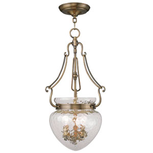 Duchess Antique Brass Three Light Chain Hung Pendant