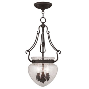 Duchess Bronze Three Light Chain Hung Pendant