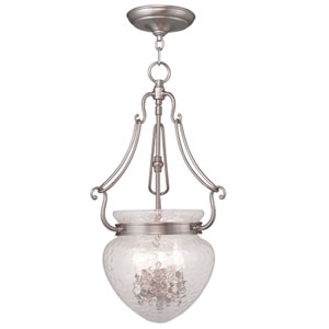 Duchess Brushed Nickel Three Light Chain Hung Pendant