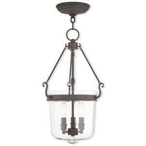 Rockford Bronze 12-Inch Three-Light Pendant