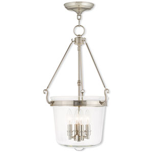 Rockford Polished Nickel 14.5-Inch Four-Light Pendant