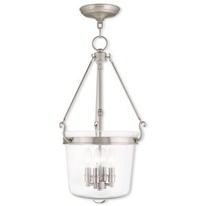 Rockford Brushed Nickel 14.5-Inch Four-Light Pendant