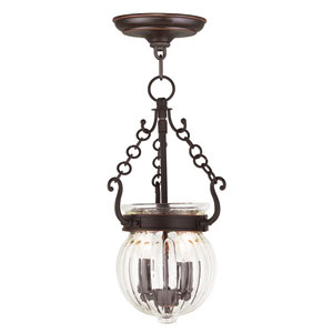 Everett Olde Bronze 8.5-Inch Two-Light Pendant