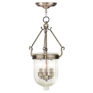Coventry Antique Brass 10-Inch Three-Light Pendant