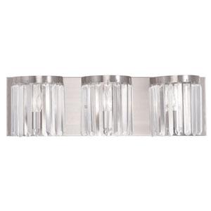 Ashton Brushed Nickel 23.5-Inch Three-Light Bath Light