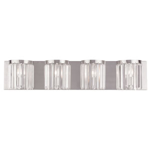 Ashton Brushed Nickel 34.5-Inch Four-Light Bath Light