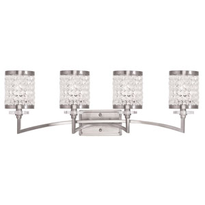 Grammercy Brushed Nickel 33-Inch Four-Light Bath Light