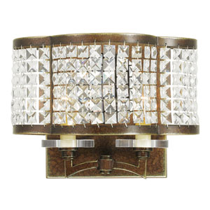 Grammercy Hand Painted Palacial Bronze 12.5-Inch Two-Light Bath Sconce