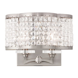 Grammercy Brushed Nickel 12.5-Inch Two-Light Bath Sconce