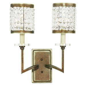 Grammercy Hand Painted Palacial Bronze 14-Inch Two-Light Bath Sconce