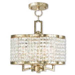 Grammercy Winter Gold Four-Light 14-Inch Semi-Flush Mount