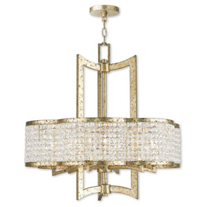 Grammercy Winter Gold Six-Light 26-Inch Chandelier