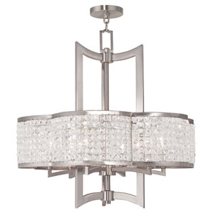 Grammercy Brushed Nickel 26-Inch Six-Light Pendant