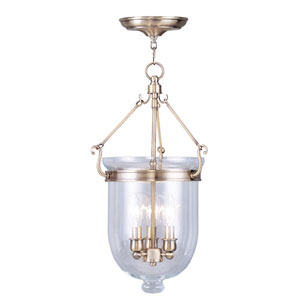 Jefferson Antique Brass Three-Light Pendant