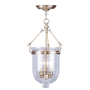 Jefferson Antique Brass Three-Light Pendant