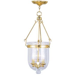 Jefferson Polished Brass Three-Light Pendant