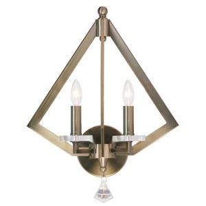 Diamond Antique Brass 13-Inch Two-Light Bath Sconce