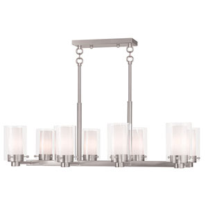 Manhattan Brushed Nickel 18-Inch Eight-Light Chandelier