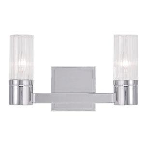 Midtown Chrome 12.5-Inch Two-Light Bath Light