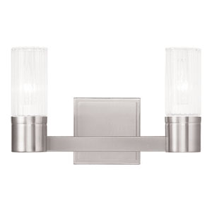 Midtown Brushed Nickel 12.5-Inch Two-Light Bath Light