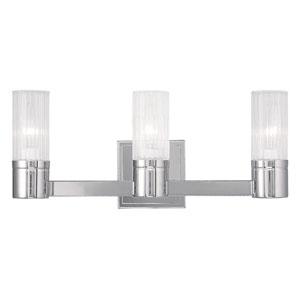 Midtown Chrome 17.5-Inch Three-Light Bath Light