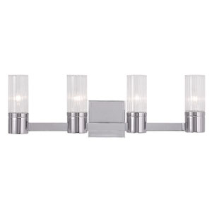 Midtown Chrome 23.5-Inch Four-Light Bath Light