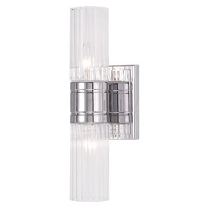 Midtown Chrome 11.5-Inch Two-Light Bath Light