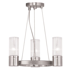 Midtown Brushed Nickel 15-Inch Three-Light Chandelier