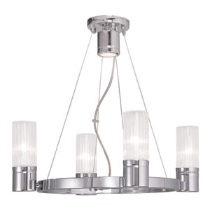 Midtown Chrome 20-Inch Four-Light Chandelier