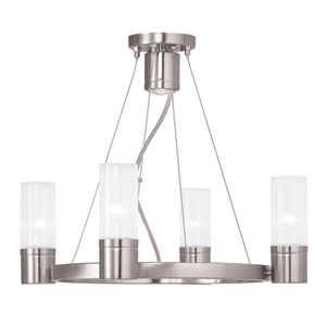 Midtown Brushed Nickel 20-Inch Four-Light Chandelier