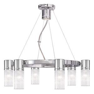 Midtown Chrome 23-Inch Six-Light Chandelier
