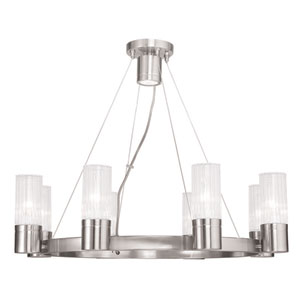 Midtown Brushed Nickel 26-Inch Eight-Light Chandelier