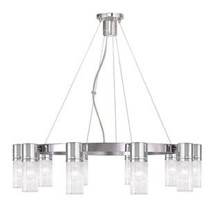 Midtown Chrome 30-Inch Ten-Light Chandelier