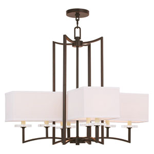 Woodland Park Olde Bronze 31-Inch Eight-Light Pendant