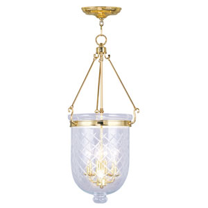Jefferson Polished Brass Four-Light Pendant