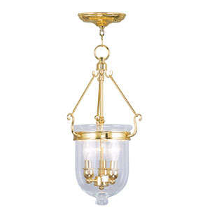 Jefferson Polished Brass Three-Light Pendant