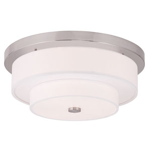 Meridian Brushed Nickel 18-Inch Four-Light Flush Mount