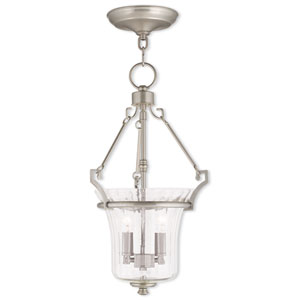 Cortland Brushed Nickel 11-Inch Two-Light Pendant