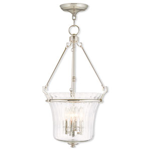 Cortland Polished Nickel 15.5-Inch Four-Light Pendant