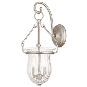 Andover Brushed Nickel 10-Inch Two-Light Bath Sconce
