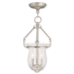 Andover Brushed Nickel 10-Inch Two-Light Pendant