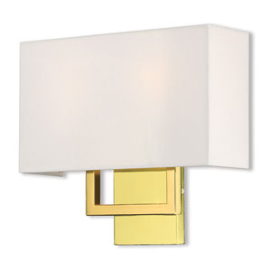 Pierson Polished Brass 13-Inch Two-Light Wall Sconce